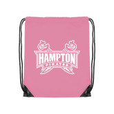 Light Pink Drawstring Backpack-Hampton Pirates Swords