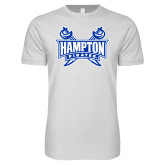 Next Level SoftStyle White T Shirt-Hampton Pirates Swords