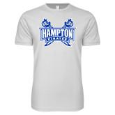 Next Level SoftStyle White T Shirt-Hampton Pirates Swords