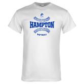 White T Shirt-Softball Seams Design