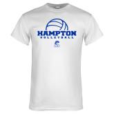 White T Shirt-Volleyball Ball Design