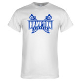 White T Shirt-Hampton Pirates Swords