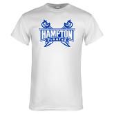 White T Shirt-Hampton Pirates Swords