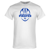 White T Shirt-Vertical Football Design