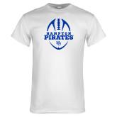 White T Shirt-Vertical Football Design