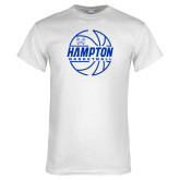 White T Shirt-Basketball Ball Design