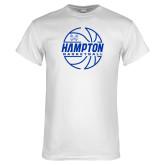 White T Shirt-Basketball Ball Design