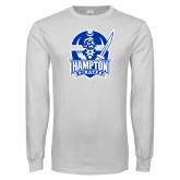 White Long Sleeve T Shirt-Hampton Pirates