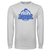 White Long Sleeve T Shirt-2017 MEAC Womens Basketball Champions