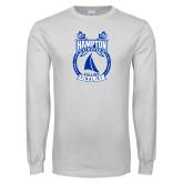 White Long Sleeve T Shirt-Hampton Sailing Championship Finalist