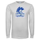 White Long Sleeve T Shirt-Hampton Lady Pirates