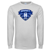 White Long Sleeve T Shirt-Respect The H