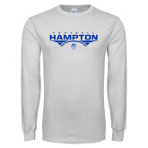 White Long Sleeve T Shirt-Football Geometric Design