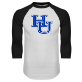 White/Black Raglan Baseball T-Shirt-HU
