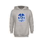Youth Grey Fleece Hood-Hampton Pirates