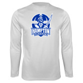 Syntrel Performance White Longsleeve Shirt-Hampton Pirates