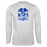 Syntrel Performance White Longsleeve Shirt-Hampton Pirates