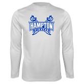 Syntrel Performance White Longsleeve Shirt-Hampton Pirates Swords