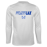Syntrel Performance White Longsleeve Shirt-LAX Design