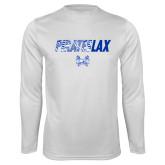 Syntrel Performance White Longsleeve Shirt-LAX Design