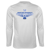 Syntrel Performance White Longsleeve Shirt-Track and Field Shoe Design