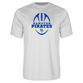 Syntrel Performance White Tee-Vertical Football Design