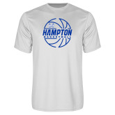 Syntrel Performance White Tee-Basketball Ball Design
