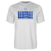 Syntrel Performance White Tee-Basketball Stacked Design