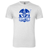 Next Level Heather White Tri Blend Crew-Hampton Pirates