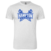 Next Level Heather White Tri Blend Crew-Hampton Pirates Swords