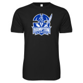 Next Level SoftStyle Black T Shirt-Hampton Pirates