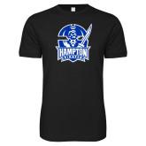 Next Level SoftStyle Black T Shirt-Hampton Pirates