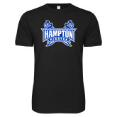 Next Level SoftStyle Black T Shirt-Hampton Pirates Swords