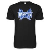 Next Level SoftStyle Black T Shirt-Hampton Pirates Swords