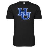Next Level SoftStyle Black T Shirt-HU