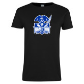 Ladies Black T Shirt-Hampton Pirates