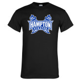 Black T Shirt-Hampton Pirates Swords