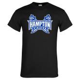 Black T Shirt-Hampton Pirates Swords