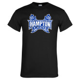Black T Shirt-Hampton Pirates Swords Distressed