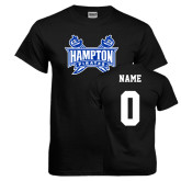 Black T Shirt-Hampton Pirates Swords, Custom Tee w/ Name and #