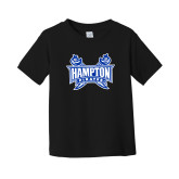 Toddler Black T Shirt-Hampton Pirates Swords