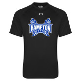 Under Armour Black Tech Tee-Hampton Pirates Swords