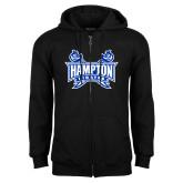 Black Fleece Full Zip Hoodie-Hampton Pirates Swords