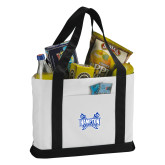 Contender White/Black Canvas Tote-Hampton Pirates Swords