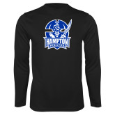 Syntrel Performance Black Longsleeve Shirt-Hampton Pirates