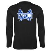 Syntrel Performance Black Longsleeve Shirt-Hampton Pirates Swords
