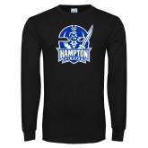 Black Long Sleeve TShirt-Hampton Pirates