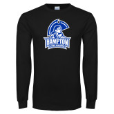 Black Long Sleeve TShirt-Hampton Lady Pirates