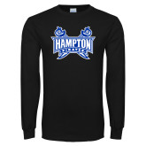 Black Long Sleeve TShirt-Hampton Pirates Swords