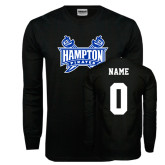 Black Long Sleeve TShirt-Hampton Pirates Swords, Custom Tee w/ Name and #